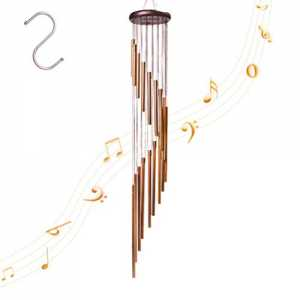 4-FQ Wind Outdoor, Wind Chimes Long Garten Chimes Glocken Tragbar Windspiel aus Metall für Home Garten Dekoration (Go...