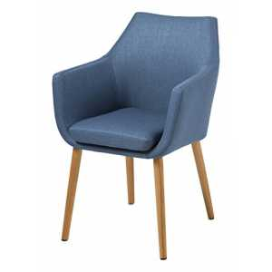 AC Design Furniture Stuhl Trine, B: 58 x T:58 x H: 84 cm, Metall, Blau