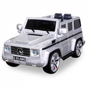 Actionbikes Motors Original Mercedes Benz AMG G55 inklusive High Door - Leder Sitz - Metallic Lackierung Jeep Lizenz Elektro Kinderauto Kinderfahrz...