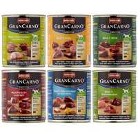 Animonda Gran Carno Hundefutter Adult Probierpack Adult Mix 2 (6 x 800 g)