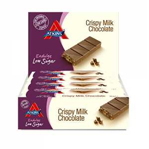 "Atkins Low Carb Endulge Riegel ""Crispy Milk Chocolate"", 15er Pack (15 x 30 g)"
