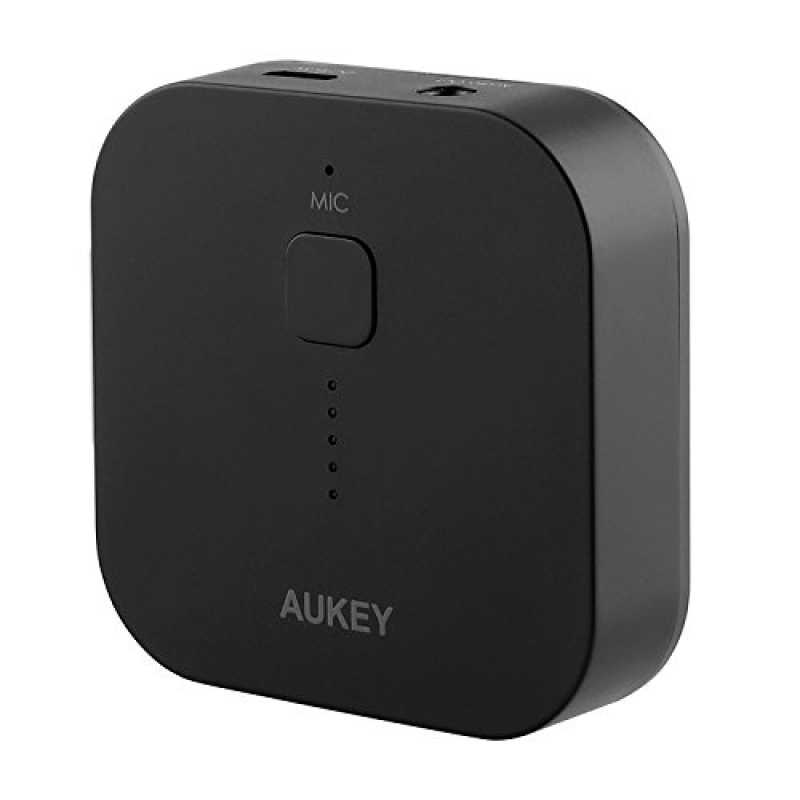 Adapter Notebook-System von Stereo In Auto und Haus Bluetooth 3.0/ Receiver Wireless Receiver Aukey/® Empf/änger Bluetooth Auto Audio Kabellos schwarz und f/ür Handy mit 3,5/ mm Jack Audio.