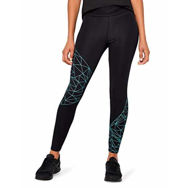 AURIQUE Damen Sportleggings, Schwarz, X-Large