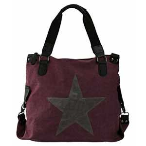 """bag2basics Canvastasche mit Sternendruck 