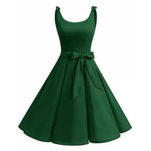 Bbonlinedress 1950er Vintage Polka Dots Pinup Retro Rockabilly Kleid Cocktailkleider Green L