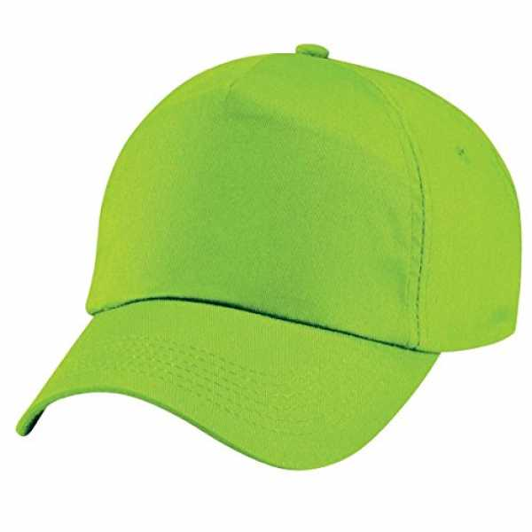 Beechfield Junior Original 5 Panel Cap One Size,Lime Green