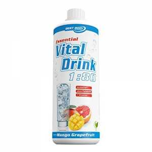Best Body Nutrition - Essential Vital Drink, 1:80, Mango Grapefruit, 1:80, 1000 ml Flasche