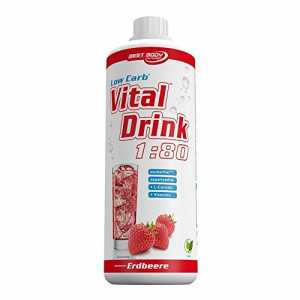 Best Body Nutrition Low Carb Vital Drink 1 Liter Flasche, Erdbeere