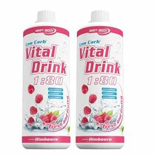 Best Body Nutrition Low Carb Vital Drink 2 x 1 Liter 2er Pack Himbeere