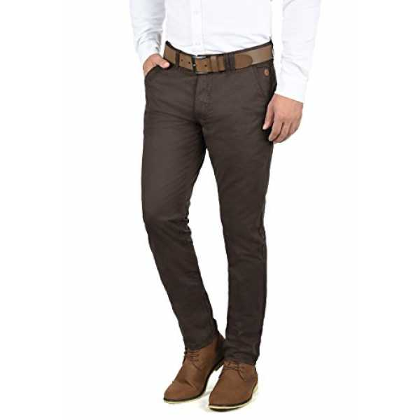 Blend Tromp Herren Chino Hose Stoffhose Aus 100% Baumwolle Regular Fit, Größe:W33/32, Farbe:Coffee Brown (71507)