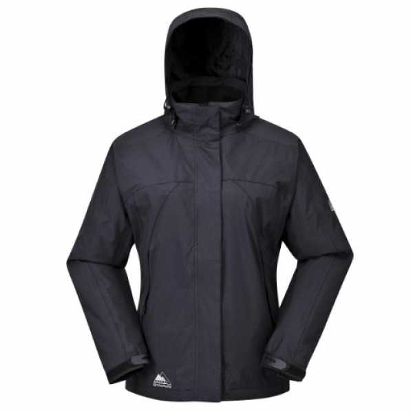 Cox Swain Damen 2-Lagen Outdoor Multifunktionsjacke MAKALU div. Farben 3.000 mm Wassersäule, Colour: Black, Size: L