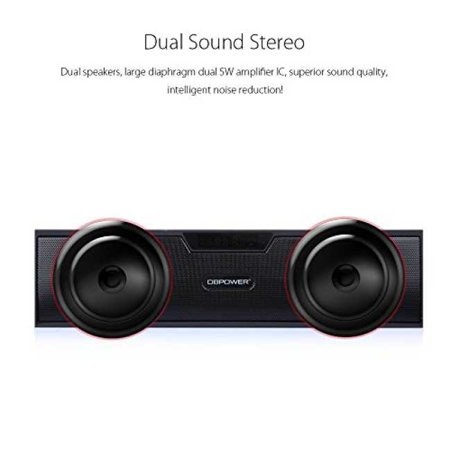 bluetooth stereo lautsprecher bx 100 led anzeige tragbar. Black Bedroom Furniture Sets. Home Design Ideas