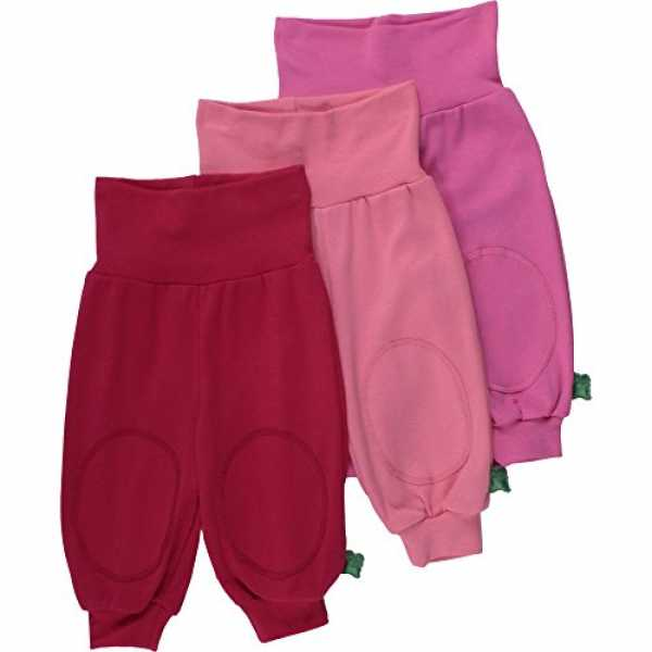 Fred's World by Green Cotton Baby - Mädchen Hose Alfa pants mix 3 - PACK, Gr. 62, Rosa (Coral 016173100)