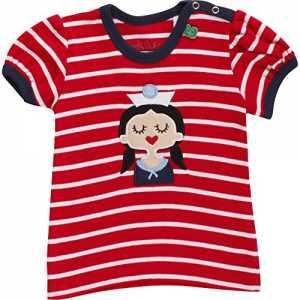Fred's World by Green Cotton Baby-Mädchen T-Shirt Sailor Stripe T Girl, Rot (Red 019176206), 92