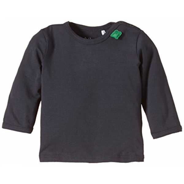Fred's World by Green Cotton Unisex Baby Top Alfa l/sl T NOOS, Gr. 62, Grau (Ink 019401901)