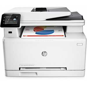HP Color LaserJet Pro M277n Farblaser Multifunktionsdrucker (Drucker, Scanner, Kopierer, Fax, LAN, HP ePrint, Apple Airprint, USB, 600 x 600 dpi) weiß