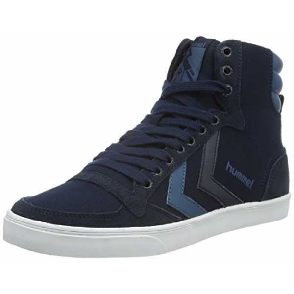 hummel Unisex-Erwachsene Slimmer Stadil Duo Canvas High Top, Blau (Total Eclipse), 44 EU