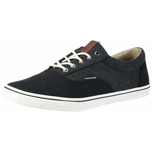 JACK & JONES Herren Jfwvision Washed Canvas Suede Mix Anthra Sneakers, Grau (Anthracite), 45 EU