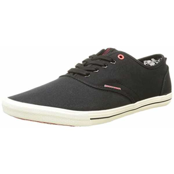 JACK & JONES JJSPIDER CANVAS SNEAKER, Herren Sneakers, Schwarz (Anthracite), 40 EU (6 Herren UK)