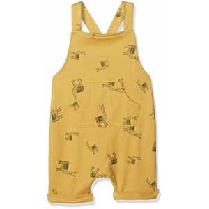 Mamas & Papas Baby-Jungen Overall Llama Dungarees, Multicoloured (Off White Stripe), 6-9 Monate