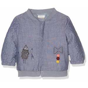 Mamas & Papas Baby-Mädchen Jacke Chambray Quilted Bomber, Blau, 56