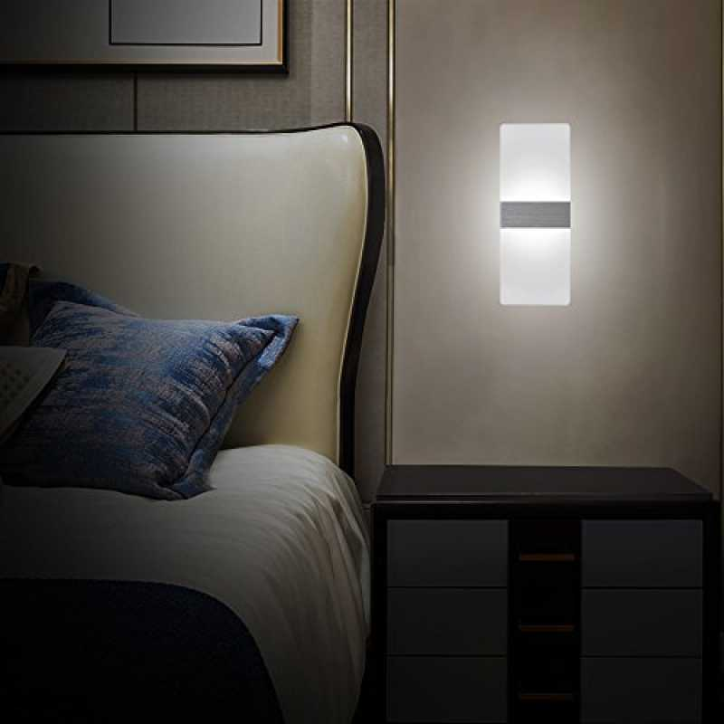 NetBoat Led Wandleuchte 6W Moderne Wand Sconce UP Down Be ...