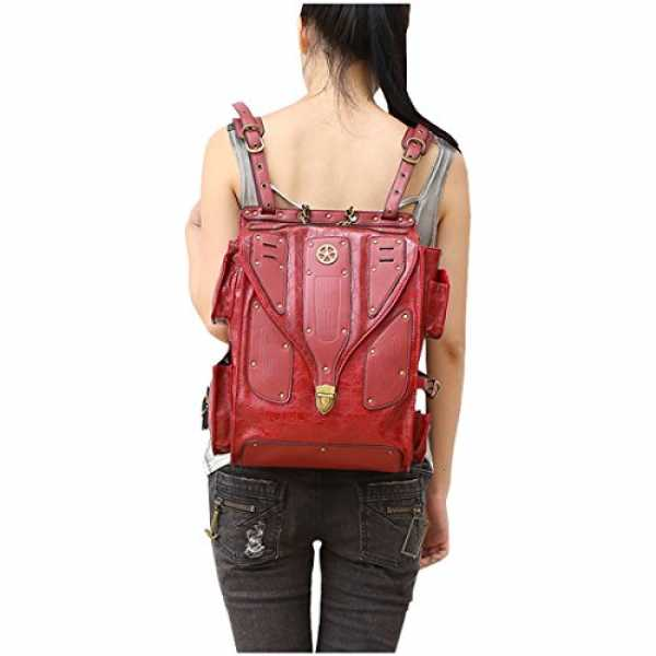 Partiss Partiss Unisex Gothic Punk Rave Steampunk Industrial Military Post Apocalyptic Waistbag Backpack Tasche Guerteltasche Laptoptasche Punk Ruc...