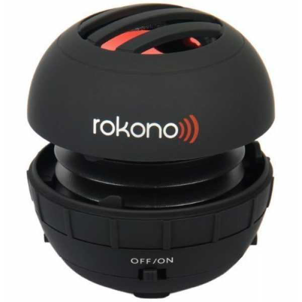 Rokono BASS+ Mini Lautsprecher für iPhone / iPad / iPod / MP3 Player / Laptop - Schwarz