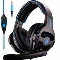2016 Newest Sades sa-810 Multi-Plattform PS4 Gaming Headset, Wired Over-Ear-Kopfhörer mit Mikrofon Revolution für PS4 New Xbox One PC MAC Laptop iP...