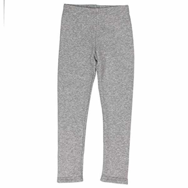 SALT AND PEPPER Mädchen Leggings Leggins Basic Thermo, Grau (Light Grey Melange 201), 92/98