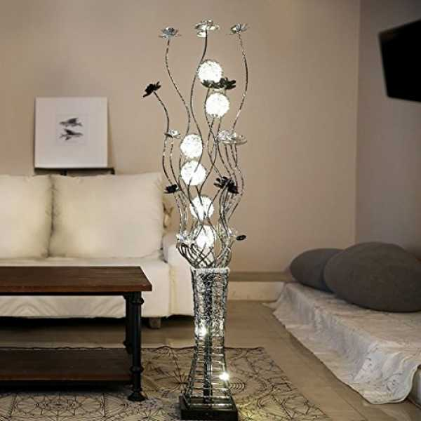 MEILING Stehleuchte Creative Vertical Living Room Lights Einfache Vase Schlafzimmer Stehlampe Fußpedal