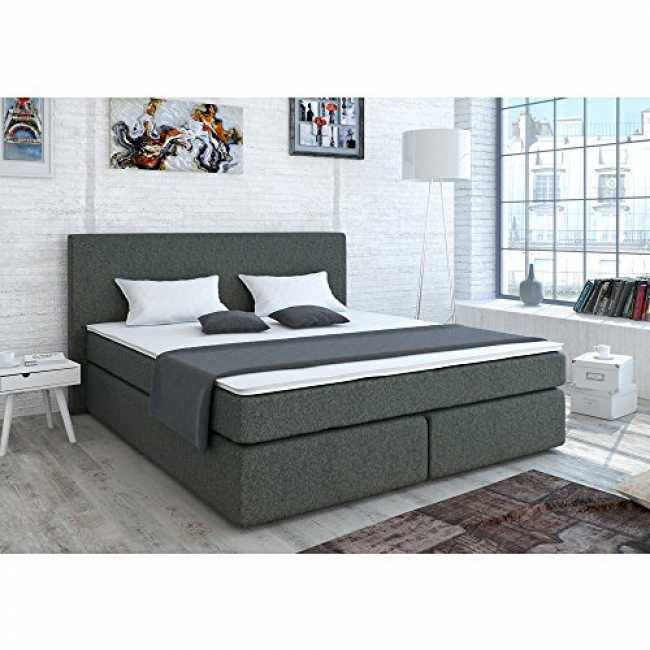 designer boxspringbett 140x200 cm bonell federkernmatratz trend 2019. Black Bedroom Furniture Sets. Home Design Ideas