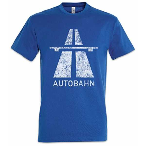 Autobahn T-Shirt – Electro Pop Kraftwerk Synthie 80s Wave Elektro Techno Acid House Indie Sign Schild Road Highway A ...