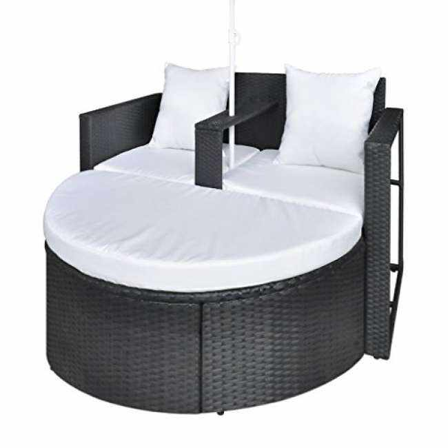 gartenlounge poly rattan lounge set gartengarnitur schwar trends 2018. Black Bedroom Furniture Sets. Home Design Ideas