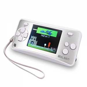 WOLSEN 2.5 LCD Portable Handheld Arcade Game Console Speaker (Silver + White) (3 X AAA) 152 in 1 Games