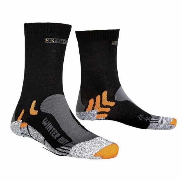 X-Socks Funktionssocken Winter Run, Black, 45/47